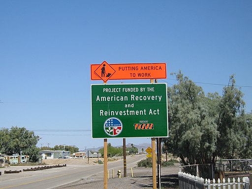 ARRA sign Baker CA