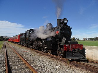 Weka Pass Railway - Image: A 428 at Glenmark Station