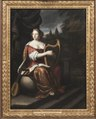 A Lady Playing the Harp (Martin Mijtens d.ä.) - Nationalmuseum - 21279.tif