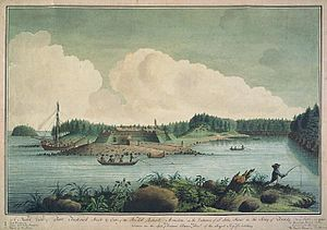 St. John River Campaign - St. John River Campaign: The Construction of Fort Frederick (1758) by Thomas Davies