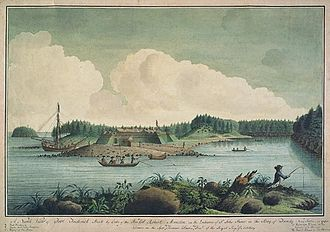 St. John River expedition - Fort Frederick (1758–1775) was built on the ruins of the French Fort Menagoueche, and destroyed by Americans in the American Revolution.