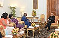 A Parliamentary delegation from Namibia led by the Speaker of the National Assembly, Prof. Peter H. Katjavivi meeting the President, Shri Pranab Mukherjee, at Rashtrapati Bhavan, in New Delhi on March 28, 2017.jpg