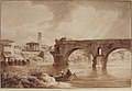A View of the Tiber from the North Bank, with the Temple of Vesta, the Campanile of S. Maria in Cosmedin and the Ponte Rotto MET 1978.271.jpg