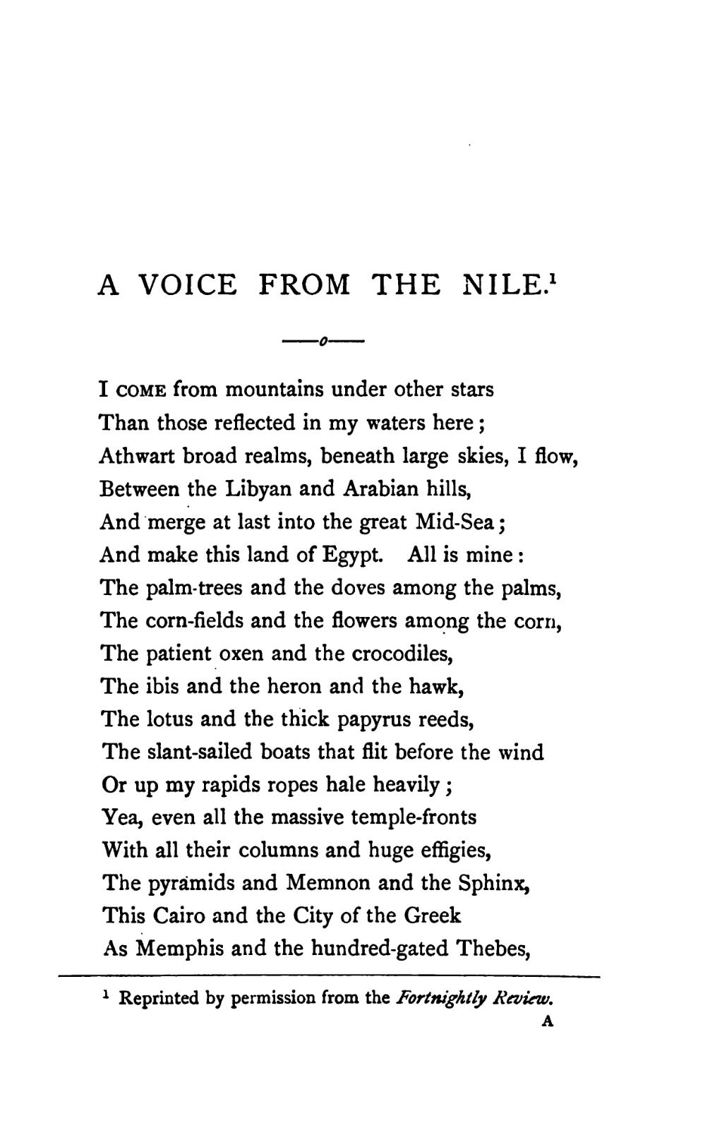 Pagea Voice From The Nile And Other Poems Thomson Dobellvu