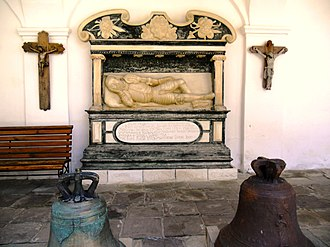 Univ Lavra - Image: A copy of the tomb of Alexander Vanka Lahodovskoho the Holy Assumption Univ Lavra