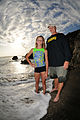 A father and daughter at Guantanamo`s girl guide beach.jpg