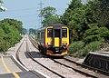 A passenger train arrives at Heckington Station from Boston. - geograph.org.uk - 832572.jpg