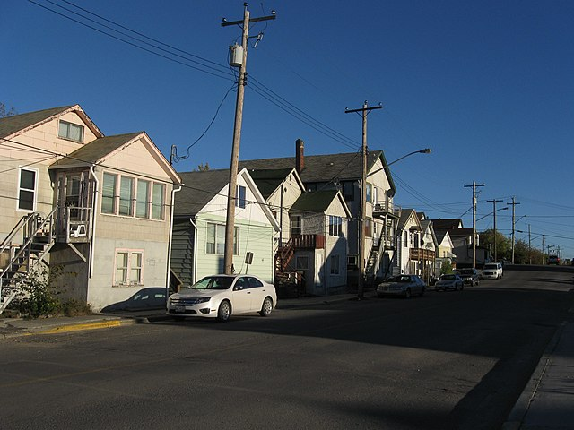 """""""A typical street in Flin Flon"""" by Theoffice89 - AaronC - Own work. Licensed under Creative Commons Attribution-Share Alike 3.0 via Wikimedia Commons - http://commons.wikimedia.org/wiki/File:A_typical_street_in_Flin_Flon.JPG#mediaviewer/File:A_typical_street_in_Flin_Flon.JPG"""