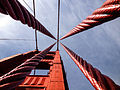 A view straight up the support cables of the Golden Gate Bridge.jpg