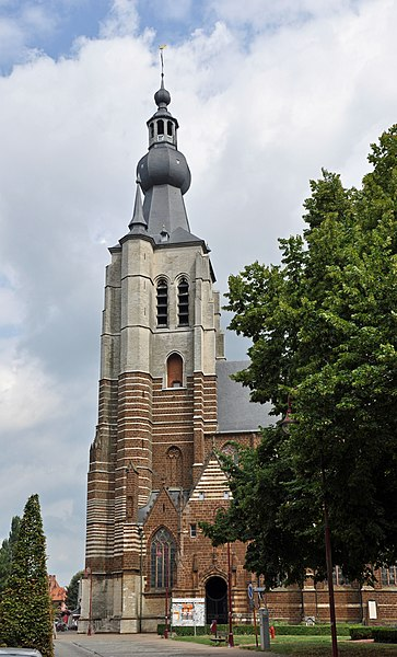 Aarschot (Belgium): the tower of St Mary's church