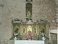 Abbey church, Our Lady Altar in Bélapátfalva, 2016 Hungary.jpg