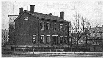 Detroit Financial District - Image: Abbot Homestead Detroit 1835