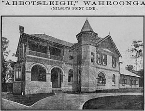 Abbotsleigh - Image: Abbotsleigh 1899