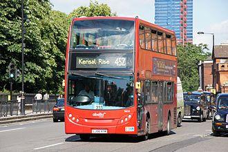 Abellio (London & Surrey) - Alexander Dennis Enviro400 on route 452 on Kensington Road