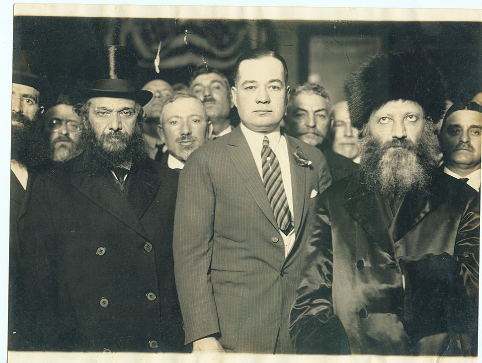 Abraham Isaac Kook with the mayor of New York