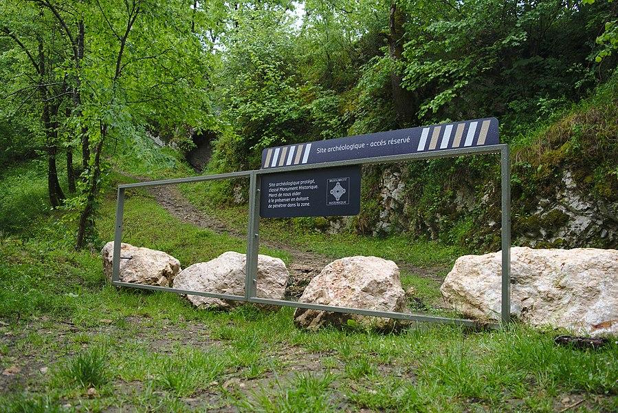 Abri préhistorique (grotte d'Aurignac)