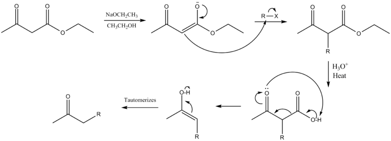 Acetoacetic Ester Mechanism Benzoic Acid Wikipedia