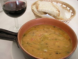Acquacotta - Image: Acquacotta, bean and minestrone soup