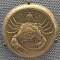 Acragas, tatradracma con granchio, simbolo di potere su terra e mare, 440 ac ca..JPG