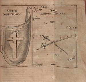 Former constellations - Gladii Saxonici from 1684 Acta Eruditorum