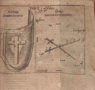 Scutum (constellation) - Scutum Sobiescianum from 1684 Acta Eruditorum