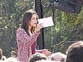 Acto preelectoral de Ciudadanos, en Madrid, con Inés Arrimadas hablando el 25 de octubre de 2015.JPG
