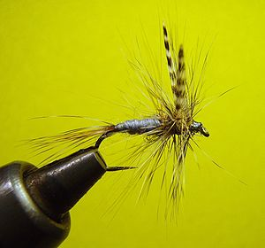 Adams Dry Fly #10 Barbless Hook