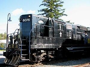 Adirondack Scenic Railroad - Image: Adirondack Scenic RR engine 6076
