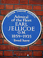 Admiral of the Fleet EARL JELLICOE O.M. 1859-1935 lived here.JPG