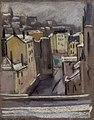 Adrien Bas - Place Gerson à Saint-Paul, pastel sur papier gris (1924).jpg