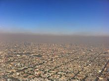 Smog au-dessus de la ville de Mexico