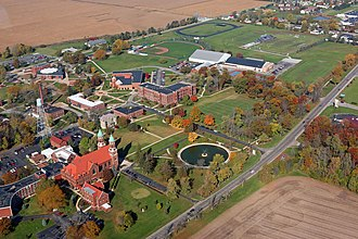 Saint Joseph's College (Indiana) - Aerial view of the campus.