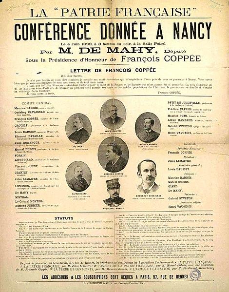 File:Affiche conférence Patrie française à Nancy (1899-06-04).jpg