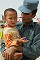 Afghan police conduct kite-making activity with Afghan children 110717-A-DM450-045.jpg