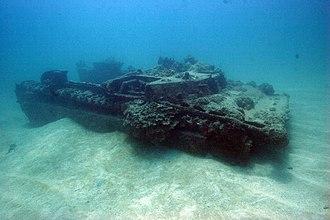 Agat World War II Amtrac - Photo c. 2007