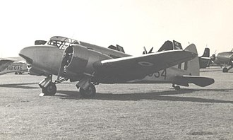 Airspeed Oxford - Oxford communications aircraft of RAF Marham Station Flight at Blackbushe Airport in September 1955