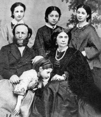 photograph of Aivazovsky with his first wife, Julia, and their four daughters