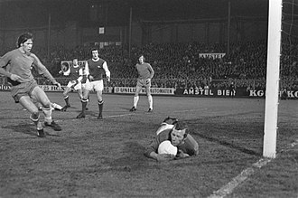 Bob Wilson (footballer, born 1941) - Wilson playing against Ajax Amsterdam (April 1970)