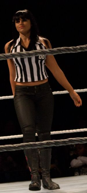 Aksana (wrestler) - Aksana as a special guest referee at a live SmackDown house show in January 2012.