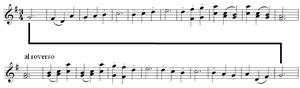Symphony No. 47 (Haydn) - Image: Al roverso symfonie 47 Haydn