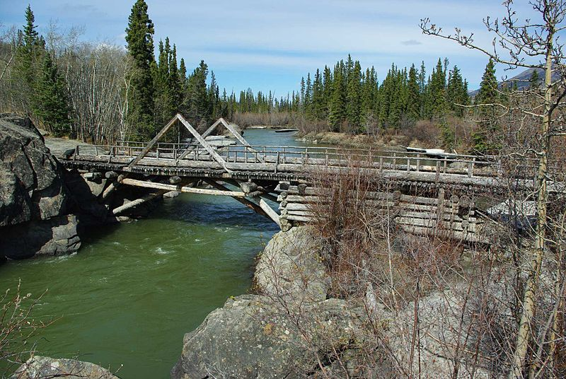 File:Alaska Highway Old Wooden Bridge.JPG