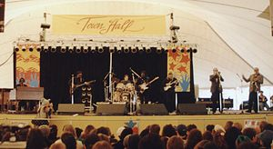 1993 in music - Albert Collins playing event on Washington Mall before the inauguration of US President Bill Clinton.