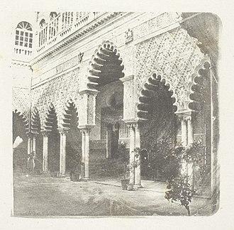Alcázar of Seville - Alcazar de Seville by Henry Fox Talbot, circa 1853/58