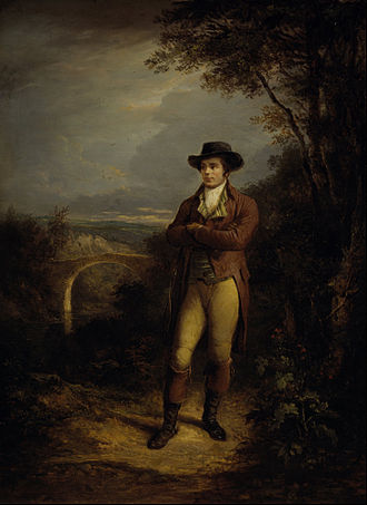 Robert Burns - Alexander Nasmyth, Robert Burns (1828).