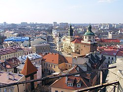 Alians PL Lublin z WiezyTrynitarskiej Srodmiescie,2007 03 24,P3240065.jpg
