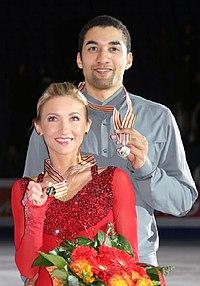Aliona Savchenko & Robin Szolkowy 2009 Europeans.jpg