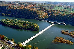 National Register of Historic Places listings in Allegheny County, Pennsylvania - Image: Allegheny Islands State Park, C.W. Bill Young Lock and Dam