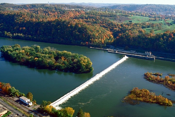 Allegheny Islands State Park, C.W. Bill Young Lock and Dam