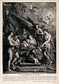 Allegory of the birth of King Louis XIII. Engraving by B. Au Wellcome V0015062.jpg
