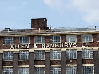 Allen & Hanburys - Image: Allen & Hanburys Ltd, Bethnal Green
